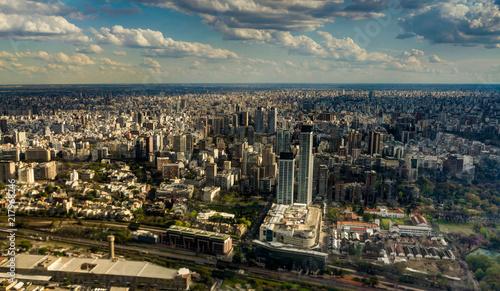 Keuken foto achterwand Buenos Aires Skyline Panorama Aerial Buenos Aires Argentina