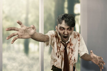 Scary Zombie Man Haunted A House