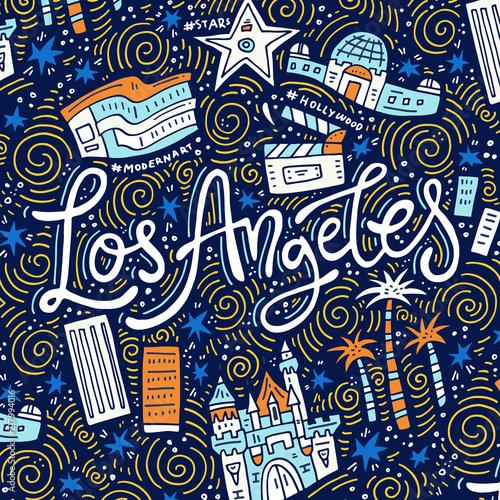Fototapeta Los Angeles symbole-los-angeles