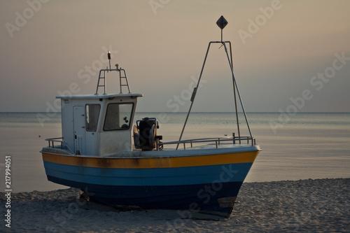 Łódź rybacka na plaży