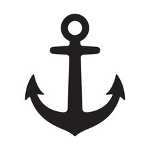 Anchor Vector Icon Logo Pirate Boat Nautical Maritime Helm Illustration Symbol Graphic Design Clip Art