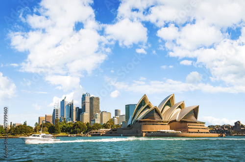 The city skyline of Sydney, Australia. Circular Quay Wallpaper Mural