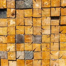 Background Of Stacked Wood Cut