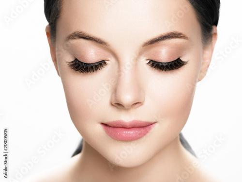 Slika na platnu Lashes woman face eyes closeup