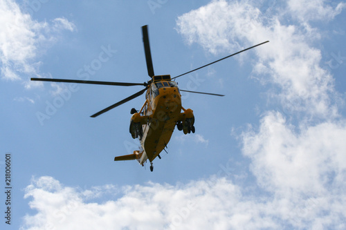 Tuinposter Helicopter Sea King Search and Rescue Helicopter From Front