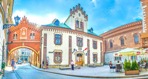 Panorama of Czartoryski Museum in Krakow, Poland