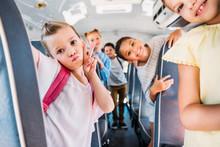 Group Of Happy Schoolchildren ...