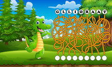 Game Alligator Maze Find Way T...