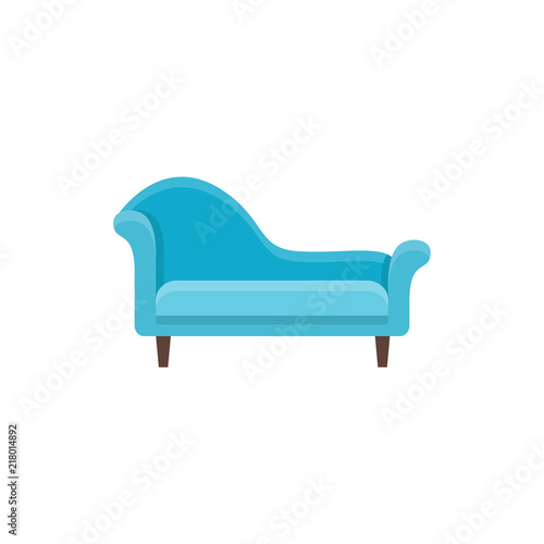 Fotografija Blue chaise lounge sofa