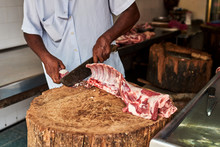 Butcher Cut Up Pork For Custom...