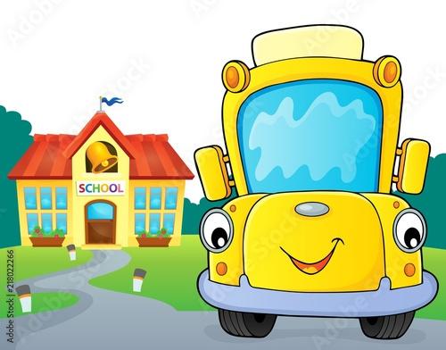 Poster Voor kinderen School bus thematics image 6