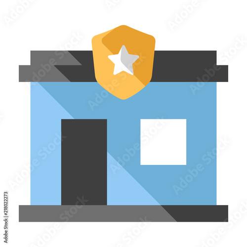 Fotografía  Police station flat illustration
