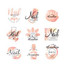 Manicure Nail Studio Logo Desi...