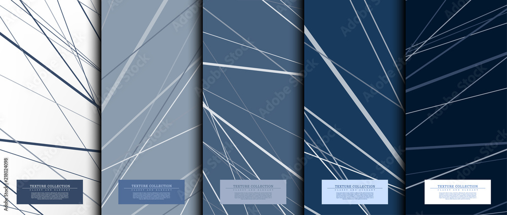 Texture collection abstract pattern texture navy blue background card template vector <span>plik: #218024098 | autor: Falookii</span>