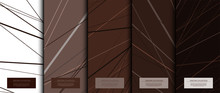 Texture Collection Abstract Pattern Texture Chocolate Brown Background Card Template Vector