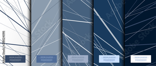 Texture collection abstract pattern texture navy blue background card template v Canvas-taulu