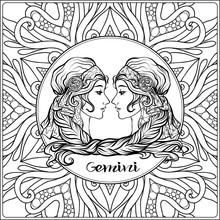 Gemini. Twins, Girls. Decorati...