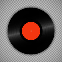 Retro Vinyl Record Isolated On...