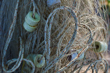 Fishing Nets Hang Outdoor, Dry...