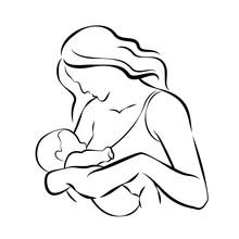 Mom Breastfeeding Baby Abstrac...