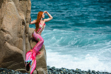 Beautiful Mermaid With Long Ta...