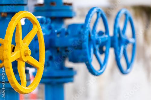 Fotografie, Obraz  Valves at gas plant