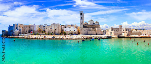 Keuken foto achterwand Groene koraal Molfetta - coastal town in Puglia with beautiful sea and beaches. Italian summer holidays