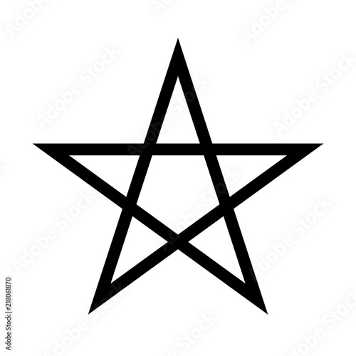 Photo  Pentagram sign - five-pointed star
