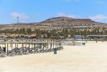 Castillo Caleta De Fuste Beautiful Beach On Fuerteventura