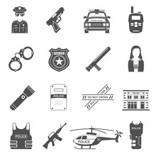 Black Icons - Police Equipment