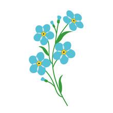 Nature Flower Light Blue Forge...