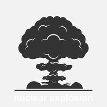 Nuclear Explosion Vector Illus...