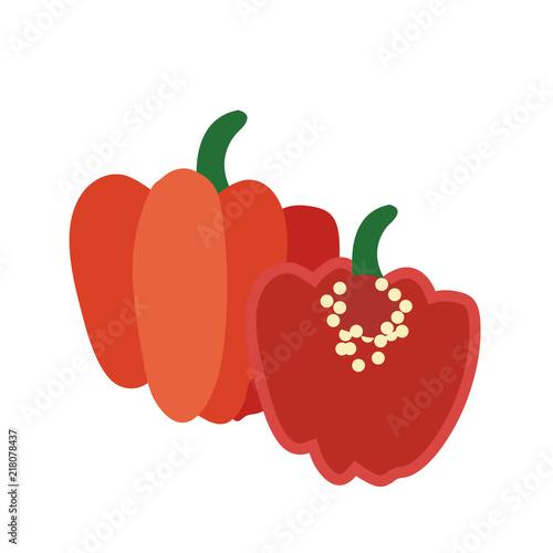 Fotografie, Obraz Nature organic vegetable Red Scotch bonnet pepper