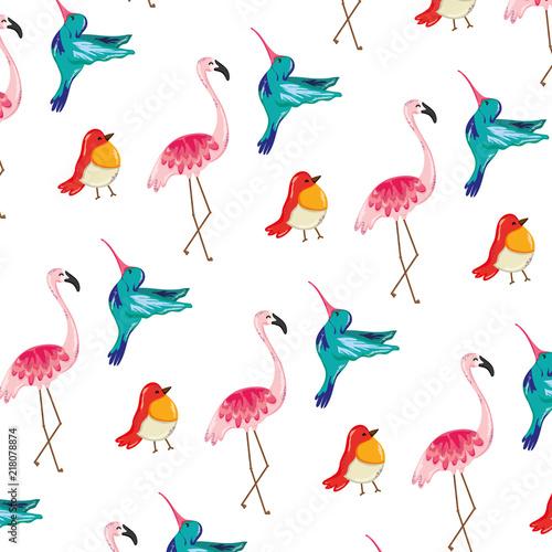Canvas Prints Flamingo Bird tropical nice birds animals background