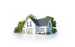 canvas print picture - Einfamilienhaus 1 freigestellt