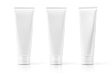 White Cosmetic Plastic Tube Is...