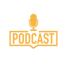 Podcast. Badge, Icon, Stamp, L...