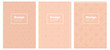 Light Orange vector pattern for magazines.