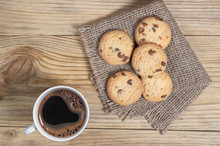 Coffee And Cookies With Chocol...