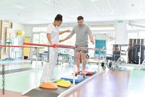 Leinwand Poster rehabilitation after injury