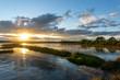 BASSIN D'ARCACHON (France), les prés salés de Lège - Arès à marée basse