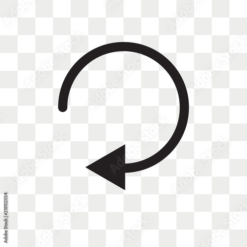 Round right arrow vector icon isolated on transparent