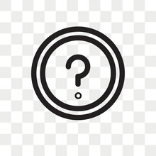 Round Help Button Vector Icon Isolated On Transparent Background, Round Help Button Logo Design