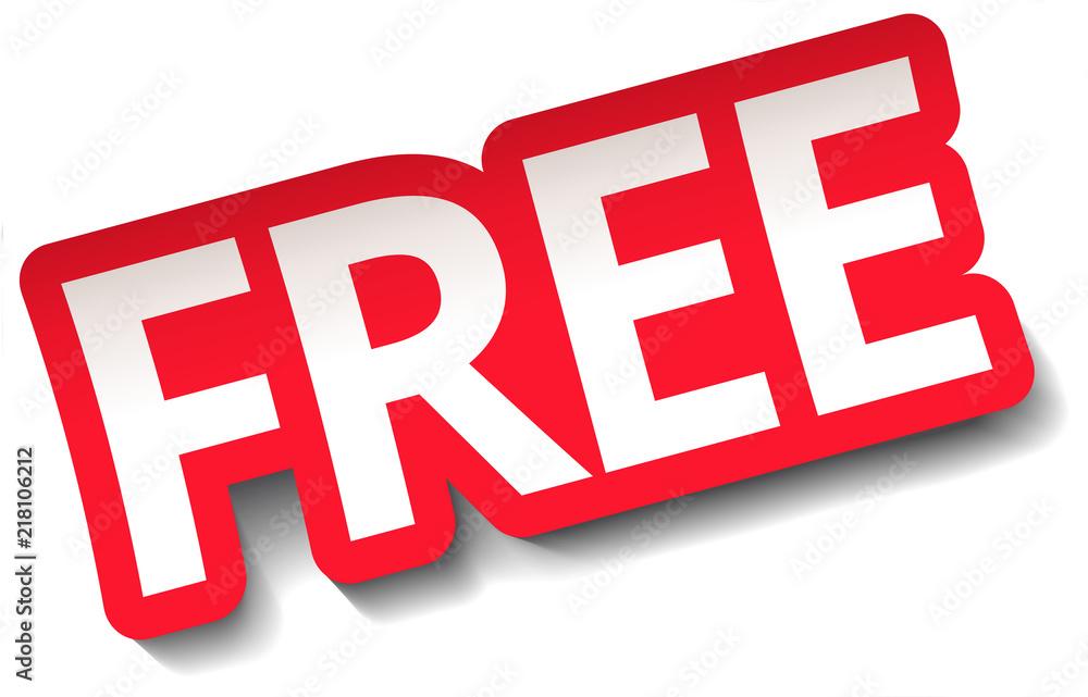 Fototapety, obrazy: FREE Sticker