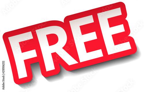 Fotografía  FREE Sticker