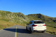 Car on the road in Transalpina