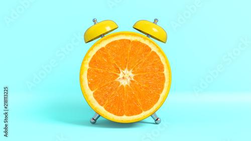 Fotografie, Obraz  Réveille matin vintage en forme de orange