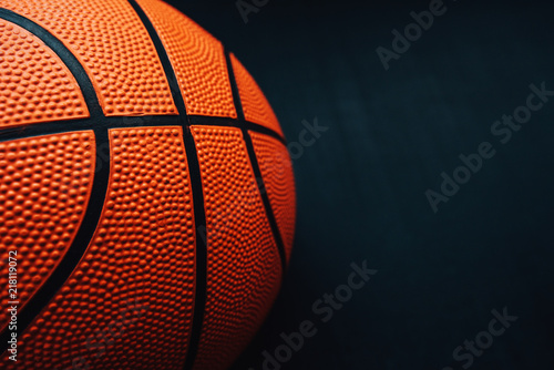 Basketball on dark background