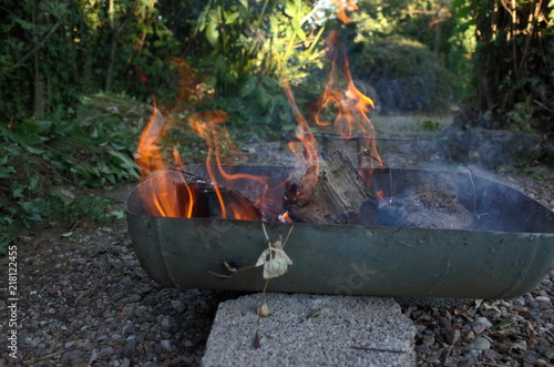 Barbecue Bbq Fait Maison Avec Flammes Buy This Stock Photo And Explore Similar Images At Adobe Stock Adobe Stock