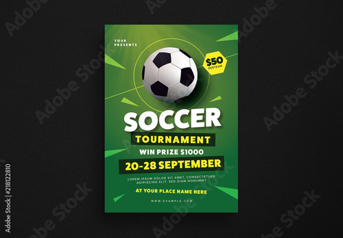 Soccer Tournament Flyer Layout